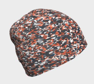 Geometric Red Camouflage Beanie preview