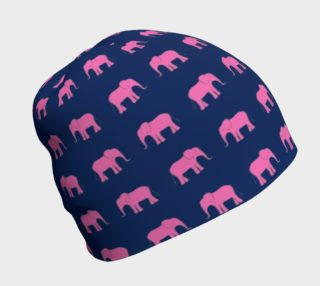 Elephant - Pink on Navy preview