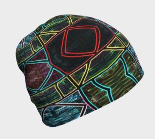Diamond Sarape Stained Glass Beanie preview