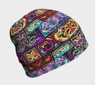 Ionic Damask Stained Glass Beanie preview