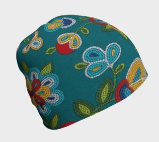 Aperçu de Turquoise Floral Beanie