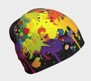 CRAZY multicolored double RUNNING SPLASHES beanie preview