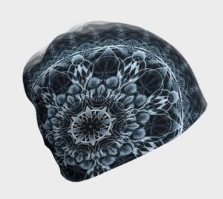 skull mandala 2 blue beanie by Dustin Zane Poole preview