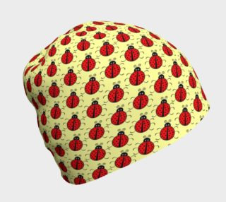 Ladybugs Pattern-Cream Beanie preview