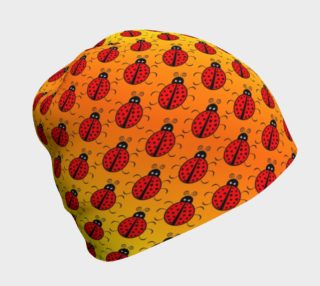 Ladybugs Pattern-Golden Glow Beanie preview