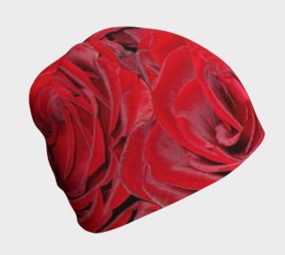 Aperçu de Red Roses Floral Beanie