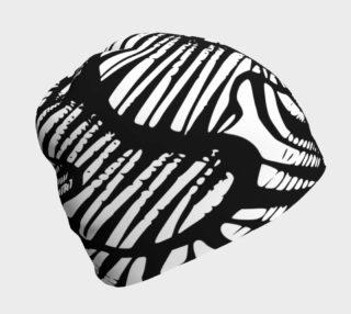 Aperçu de Zebra beanie black and white