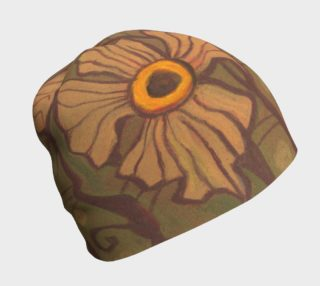 Yellow-eyed flowers, floral art, yellow - brown - olive preview