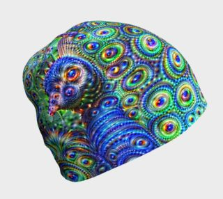Brilliant Jeweled Peacock Beanie preview
