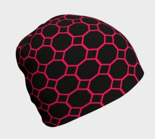 Hot Pink Honeycomb Beanie preview