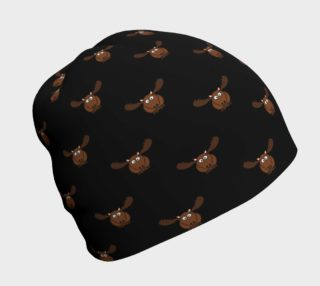 Moose Pattern-Dark Chocolate Beanie preview