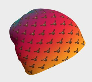 Moose Pattern-Rainbow Ombre Beanie preview