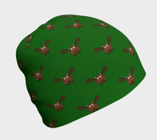 Moose Pattern-Avocado Beanie preview