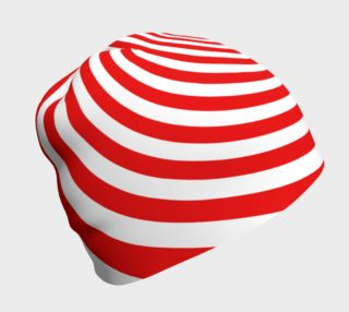 Red & White Spiral Swirl Beanie preview