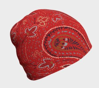 Red Paisley Beanie preview