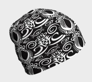 Black and white Baroque Beanie preview