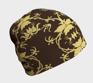 Art Nouveau Gold on Brown Beanie preview