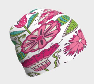 Pretty Pink Flowers Beanie preview