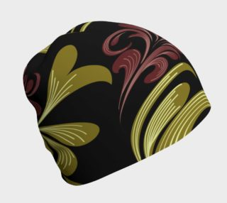 Swirlies On Black Beanie preview