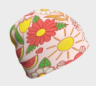 Give A Hoot Eat Your Fruit Beanie preview