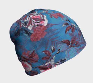 Aperçu de beanie blue flowers