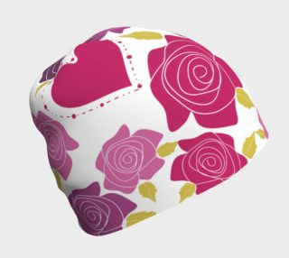 Aperçu de Hearts and Roses Beanie