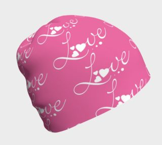 Aperçu de Hot Pink Love 2 Beanie