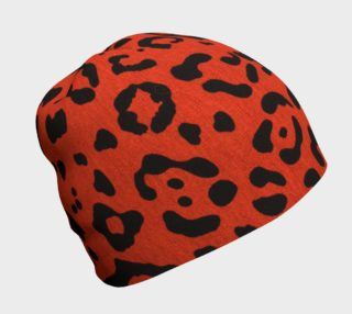 Aperçu de Red Hot Leopard Beanie