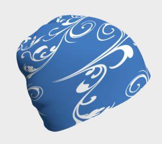 Aperçu de Stylin' Blue and White Beanie