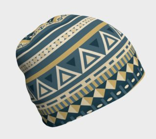 Ethnic Tribal Print - Blue and Tan Geometric preview