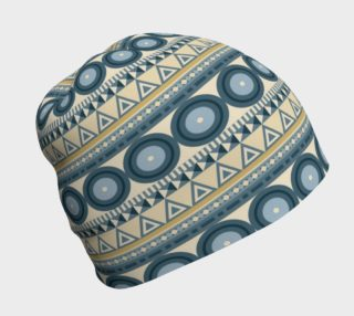 Ethnic Tribal Print - Blue, Tan Geometric and Circles preview