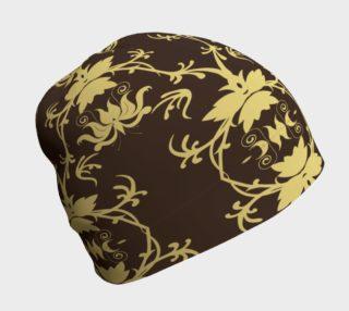 Gold Art Nouveau Beanie preview