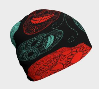 Neon Sugar Skulls Beanie preview
