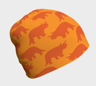 Orange Triceratops Beanie preview