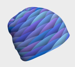 Blue and Purple Waves Beanie preview