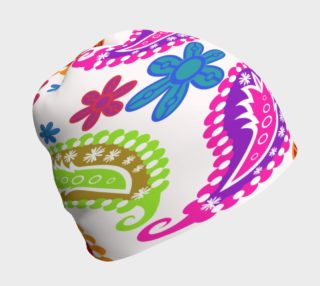 Bright Paisley Beanie preview