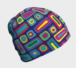 Neon Geometric Beanie preview