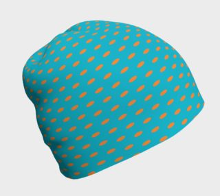 Orange Dots on Blue Beanie preview
