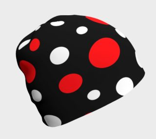 Red and White Dots Beanie preview