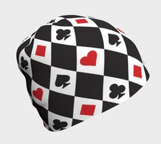 Aperçu de Casino - Hearts, Clubs, Spades, Diamonds Harlequin Pattern Black