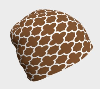 Moroccan Influence Brown Beanie  preview