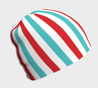 Red and Blue Stripe Beanie preview