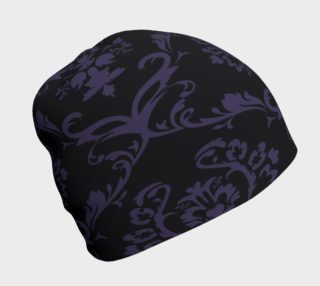Purple Baroque on Black Beanie preview