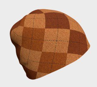 Aperçu de Shades of Brown Argyle Beanie