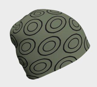 Aperçu de Circles on Khaki Beanie