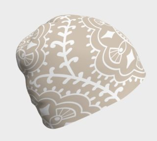 Lace On Beige Beanie preview