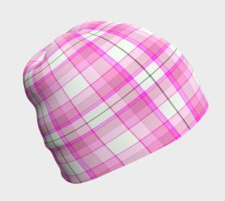 Aperçu de Pink Plaid Beanie
