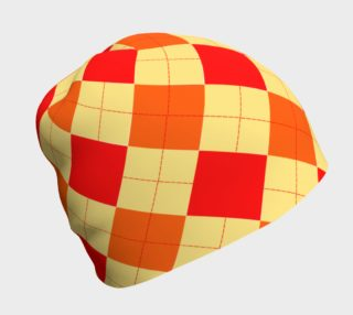 Red and Orange Argyle Beanie preview