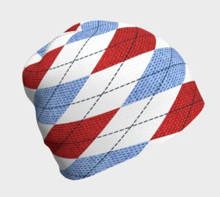 Red White and Blue Argyle Beanie preview