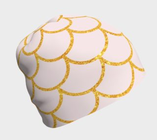 Gold Scallops on Pale Pink Beanie preview